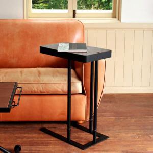 収納付サイドテーブル SST-810 ウォールナット|atease