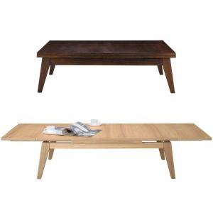 伸長式リビングテーブル COPAN エクステンションテーブル W120-180cm アッシュ材|atease