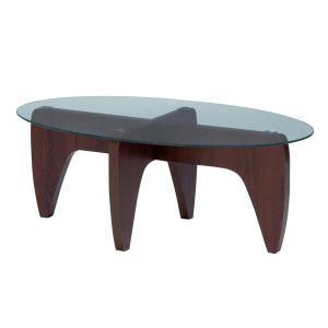 ガラステーブル GGH-361 オーバル型|atease