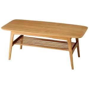 センターテーブル HENRY 棚付 アッシュ材 ナチュラル 北欧モダン|atease