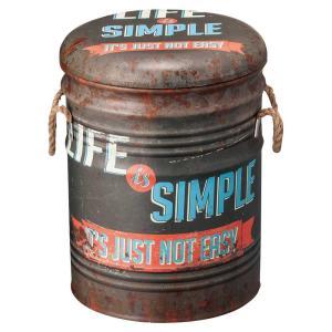 スツール 収納付 ペール缶スツール Bタイプ|atease