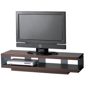 テレビ台 TVボード W123cm キャスター付 SO-1120 木+ガラス シンプルデザイン atease