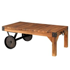 リビングテーブル トローリーテーブル Sサイズ 90×50cm 車輪付 TTF-117 アンティーク風|atease