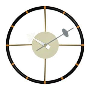 壁掛け時計 ウォールクロック ネルソン ステアリングホイール クロック ジョージ・ネルソン デザイナーズ リプロダクト ミッドセンチュリー|atease