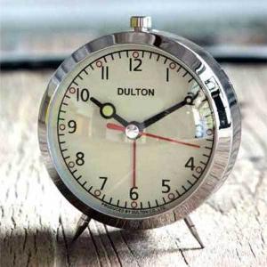 目覚まし時計 ダルトン アラームクロック クローム 100-053Q/CR レトロ アメリカンヴィンテージ調|atease