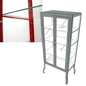 ダルトン ドクターキャビネット DOCTOR CABINET 専用ガラス棚板 棚板追加用 Sサイズ・Lサイズ共通|atease