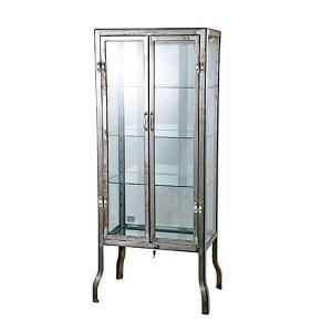 ダルトン ドクターキャビネット DOCTOR CABINET Lサイズ ローフィニッシュ仕上げ ガラスキャビネット ディスプレイ スチール製 飾り棚 ショーケース|atease