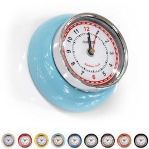 時計 キッチン用 マグネットタイプ 小型 ダルトン キッチンクロック ウィズ マグネット アナログ アメリカンヴィンテージ調|atease