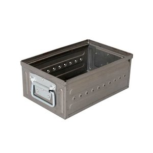 収納ボックス 小物・パーツ収納 ダルトン D.M.S GARAGE 6L ローフィニッシュ スタッキングボックス 積重ね可能 インダストリアル アメリカンヴィンテージ調|atease
