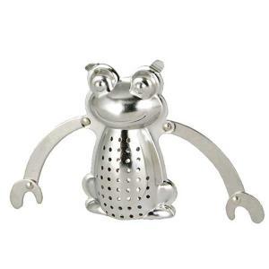 ティーストレーナー 茶こし ダルトン TEA INFUSER Frog ハンギング ティーインフューザー フロッグ 受け皿付|atease