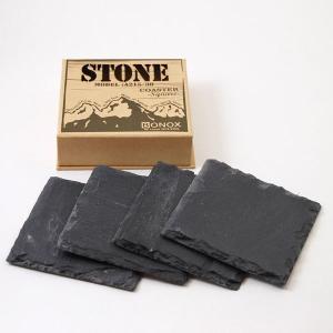 ダルトン コースター 天然石 ストーンコースター スクエア STONE COASTER Square 角型 4枚セット|atease