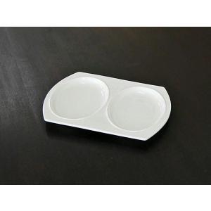 ワンプレート 皿 仕切り ダルトン HOTEL LINE DOUBLE PLATE ホテルライン ダブルプレート シンプル ホワイト|atease
