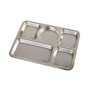 ランチプレート ワンプレート 仕切り皿 ダルトン ステンレス コンボ プレート Cタイプ シンプル ミリタリー風 キャンプ バーベキュー アウトドア食器|atease