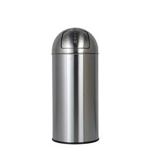 ダストボックス ゴミ箱 フタ付 プッシュトップ ダルトン ダストビン 25L サテンフィニッシュ ステンレス製 インナーバケツ付 atease