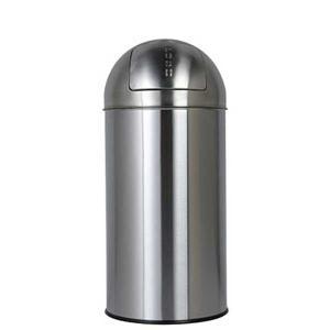 ダストボックス ゴミ箱 フタ付 プッシュトップ ダルトン ダストビン 30L サテンフィニッシュ ステンレス製 インナーバケツ付|atease