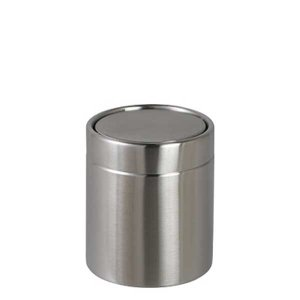 ダストボックス ゴミ箱 フタ付 フリップトップ ダルトン ダストビン TAMBOR 1L ステンレス製 コンパクト ミニサイズ atease