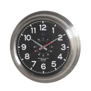 壁掛け時計 ダルトン ウォールクロック ブリストル S-40 ブラック 直径40.5cm シンプル レトロ アメリカンヴィンテージ調|atease