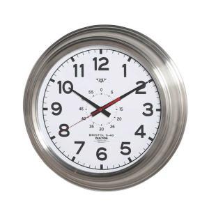 壁掛け時計 ダルトン ウォールクロック ブリストル S-40 ホワイト 直径40.5cm シンプル レトロ アメリカンヴィンテージ調|atease