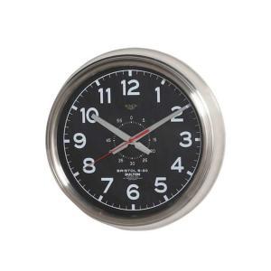 壁掛け時計 ダルトン ウォールクロック ブリストル S-30 ブラック 直径30.5cm シンプル レトロ アメリカンヴィンテージ調|atease