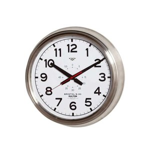 壁掛け時計 ダルトン ウォールクロック ブリストル S-30 ホワイト 直径30.5cm シンプル レトロ アメリカンヴィンテージ調|atease
