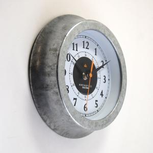 壁掛け時計 ダルトン ウォールクロック ノースロップ G-22 直径22.5cm ガルバナイズド シンプル レトロ アメリカンヴィンテージ調|atease