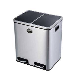 ゴミ箱 ダストボックス 分別 ペダル式 ダルトン 2 コンパートメント ビン 30L ステンレス製 ふた付き シンプル おしゃれ atease