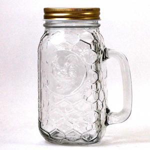 ダルトン メイソンジャー ROOSTER JAR WITH HANDLE ルースタージャー ウィズ ハンドル 600ml|atease