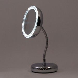 卓上ミラー ダルトン LED MAGNETIC MIRROR LEDライト付 マグネティックミラー S054-02 丸型 拡大鏡 シンプル スタイリッシュ atease