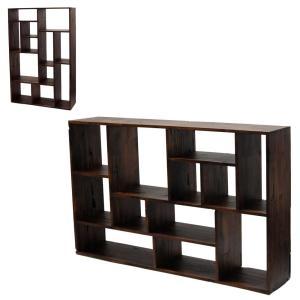 シェルフ 棚 飾り棚 間仕切り オープンシェルフ Dortmund ウォールナット総無垢材 木製 縦横使用可能|atease