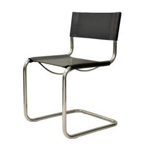 ダイニングチェア カンチレバーチェア マルト・スタム Martoss Chair ブラック キャンティレバー リプロダクト シンプルモダン|atease