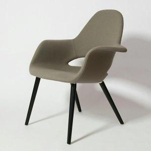 オーガニックチェア Organic Chair イームズ&サーリネン ビーチ・ブラック脚 リプロダクト ミッドセンチュリー 北欧モダン|atease