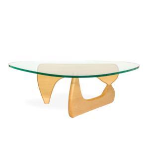 センターテーブル ローテーブル イサムノグチ コーヒーテーブル ノグチテーブル 125×90cm ビーチ無垢材 強化ガラス 19mm リプロダクト|atease