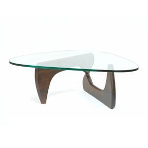 センターテーブル ローテーブル イサムノグチ コーヒーテーブル ノグチテーブル 125×90cm ウォールナット無垢材 強化ガラス 19mm リプロダクト|atease