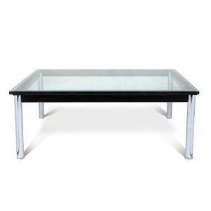 ガラステーブル ル・コルビジェ LC10 センターテーブル 15mm強化ガラス 120×80cm 長方形 デザイナーズ リプロダクト シンプルモダン ミッドセンチュリー|atease