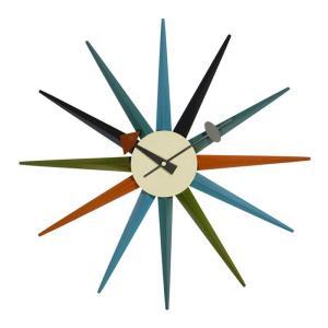 壁掛け時計 ウォールクロック ネルソン サンバースト クロック ジョージ・ネルソン デザイナーズ リプロダクト ミッドセンチュリー|atease
