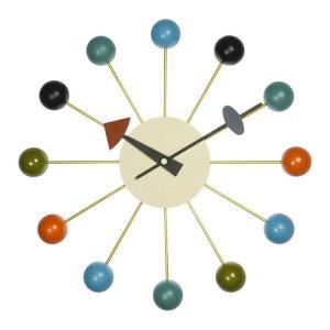 壁掛け時計 ウォールクロック ネルソン ボール クロック ジョージ・ネルソン デザイナーズ リプロダクト ミッドセンチュリー|atease