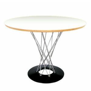 【サイクロンテーブル(ホワイト)】 ●サイズ:φ1067×H710mm ●素材:天板/メラミン・プラ...