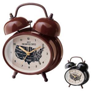 目覚まし時計 アラームクロック Rozel -Bell- テーブルクロック 大音量アラーム スヌーズ機能 レトロ クラシック アンティーク調|atease