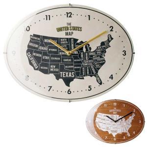 壁掛け時計 ウォールクロック Rozel オーバル型 楕円形 アメリカンヴィンテージ調|atease