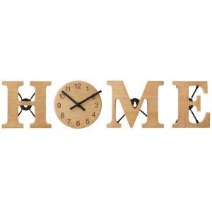 壁掛け時計 置時計 ウォールクロック・テーブルクロック兼用 アルファベットクロック HOME デザインクロック インテリア時計|atease