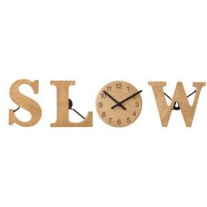 壁掛け時計 置時計 ウォールクロック・テーブルクロック兼用 アルファベットクロック SLOW デザインクロック インテリア時計|atease