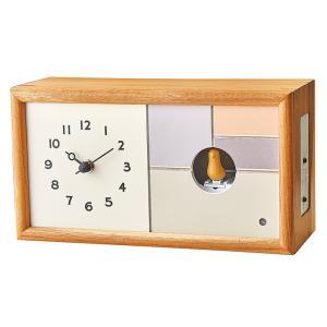 鳩時計 カッコー時計 置き 壁掛け兼用 シャルロア クロック 木製 暗闇センサー付き おしゃれ 北欧テイスト|atease