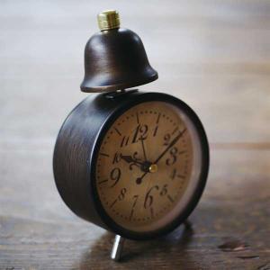 目覚まし時計 アラームクロック Leger テーブルクロック ベル音 レトロ クラシック アンティーク調|atease