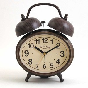 目覚まし時計 アラームクロック Loro テーブルクロック 大音量アラーム スヌーズ機能 レトロ クラシック アンティーク調|atease