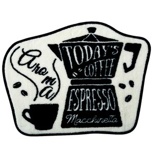 アクセントマット インテリアマット North Side Coffee モチーフマット 55×42cm FL-2788 カフェ風 レトロ ヴィンテージ調|atease