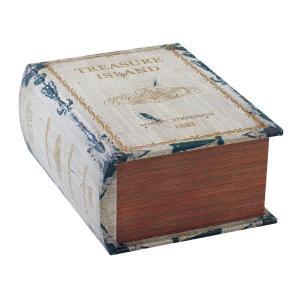 ブック型収納ボックス アンティーク洋書風 GD-6601 - アットイーズ