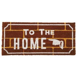 玄関マット ドアマット 屋外用 コイヤーマット Brick Watt & Sons. ブラウン 58×26cm シンプル コンパクト|atease