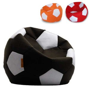 ビーズクッションソファ Lazy Bag レイジーバッグ 114-BB サッカーボール カバーリングタイプ|atease