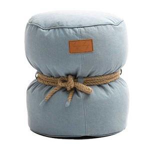 Lazy Bag ビーズクッションスツール 301-BB (カバーリング/デニムブルー)|atease
