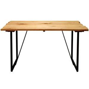 ダイニングテーブル サイズオーダー VIRGIN-SPEC. フルオーダーシステムテーブル 幅100〜130×奥行80cm メープル無垢材 atease